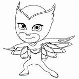 Catboy Coloring Pages Pj Masks Printable Getcolorings sketch template