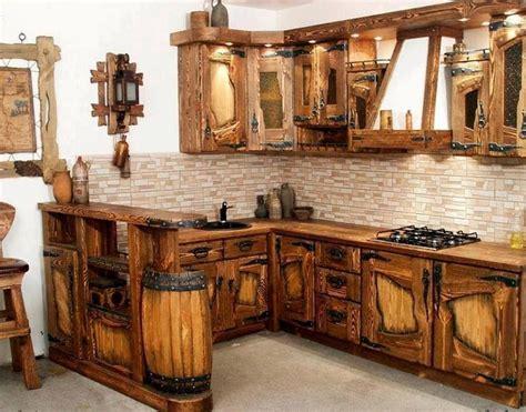 cocina  madera reciclada jardin en  muebles de