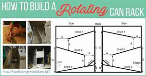 Tutorial  How To Build A Rotating Can Rack