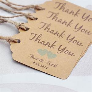 personalized thank you wedding tags with 6 colors heart With personalized thank you tags for wedding favors