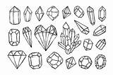 Sketch Crystals Drawing Illustrations Gems Illustration Crystal Diamond Drawings Thehungryjpeg Outline Cartoon Gem Doodle Drawn Tattoo Bundle Creativemarket Redchocolate Coloring sketch template