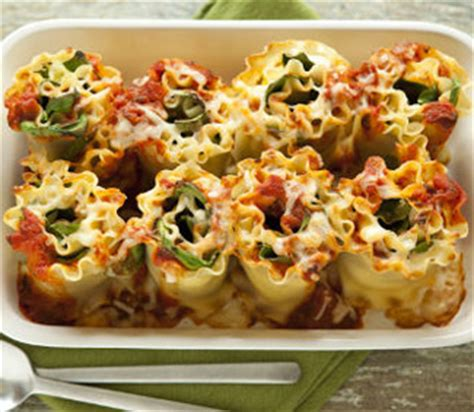 fast and easy dinner recipe for cheesy lasagna rolls with spinach and ricotta popsugar food