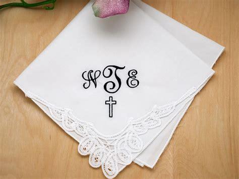 Image Gallery Monogrammed Handkerchiefs