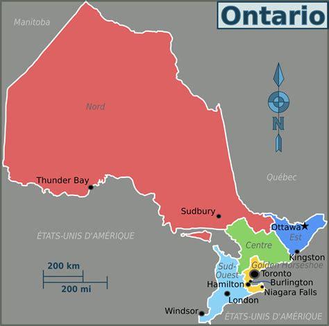 fileontario regions map frpng wikimedia commons