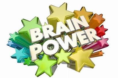 Brain Power Clipart Intelligence Memory Words Stars