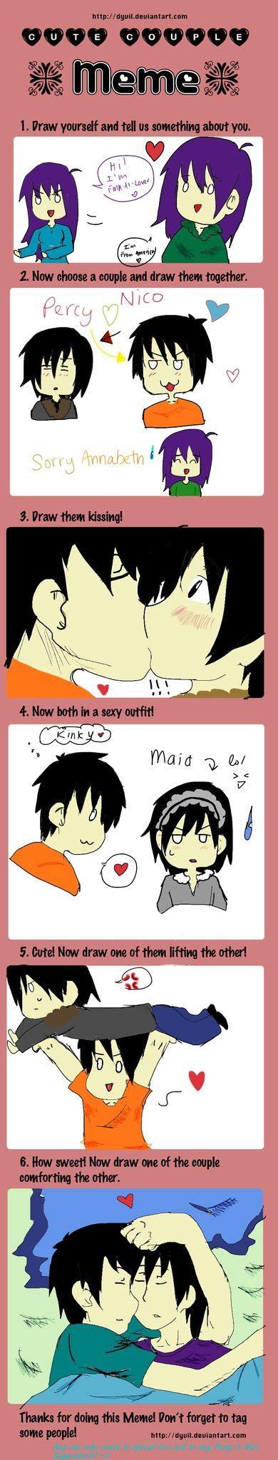 Cute Couple Meme - cute couple memepercy x nico by fma al lover on deviantart