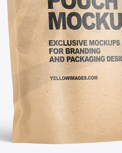 Black stand up pouch mockup. Kraft Paper Stand-up Pouch Mockup in Pouch Mockups on ...