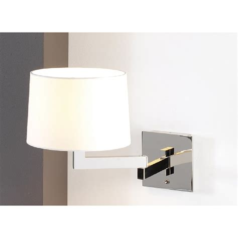 swing arm adjustable wall lights for lighting beds white shade