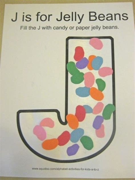 letter j alphabet activities for activities beans 356 | 0be163e4fa695fa0f559f2a2a138298a