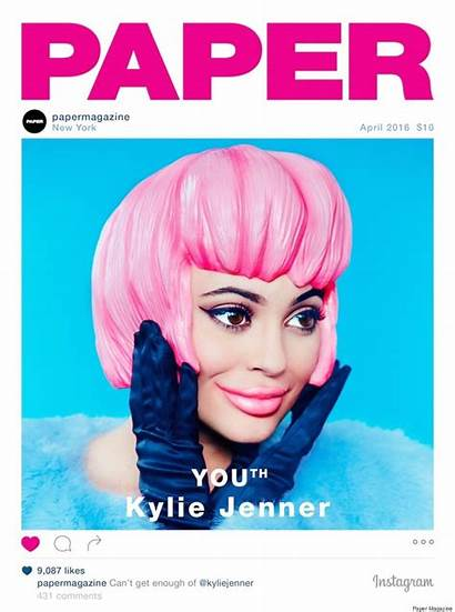 Jenner Kylie Magazine Paper Kardashian Kim Break
