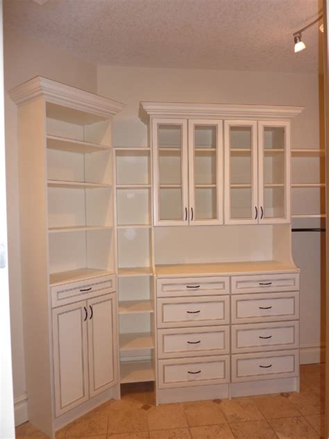 classical drawers with shelf tower antique white