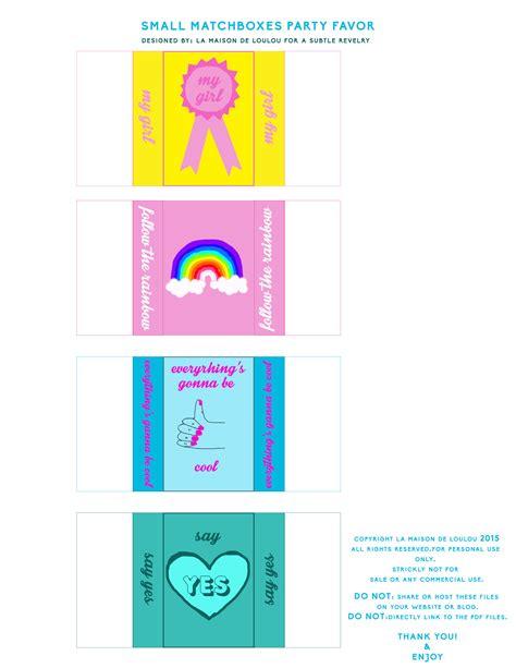 cutest matchbox templates   subtle revelry