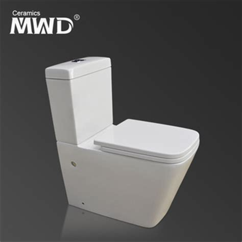 Wall Mounted European Water Closet by Ceramic Bowl Soft Toilet Seat Two Toilet Floor