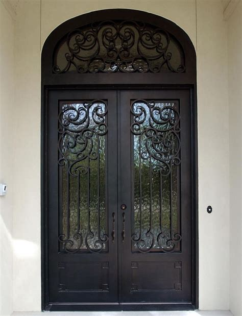 iron entry doors for home iron entry doors double square
