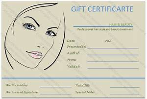 gift voucher templates gift certificate templates With free printable hair salon gift certificate template