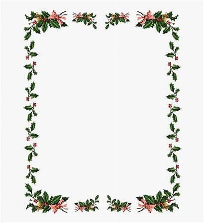 Border Clipart Holly Borders Flowers Frame Transparent