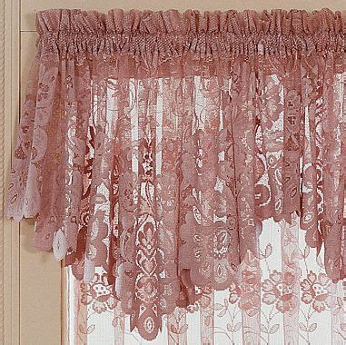 jcpenneycom jcpenney home shari lace rod pocket ascot