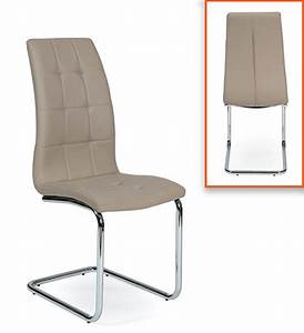 Chaise leaf taupe l 41 x h 103 x p 57 for Meuble salle À manger avec chaise salle a manger taupe
