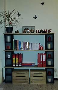 My, 1st, Handmade, Bookshelf, Cinder, Blocks, U0026, Wood, Love, The, Result, Sorry, For, The, Bad, Quality