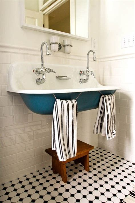 Farm Style Bathroom Sink by Trough Sinks Colored Powder Coating The Inspired Room