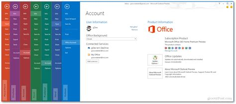 Outlook 2013 Background Color Microsoft Office 2013 Screenshot Tour Look