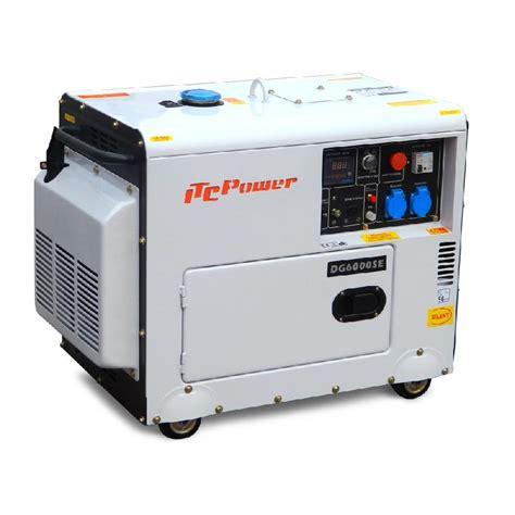 groupe electrogene diesel insonorise 6kw dg7500se