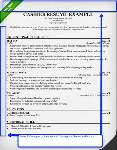 margins on a resume resume aesthetics font margins and paper guidelines