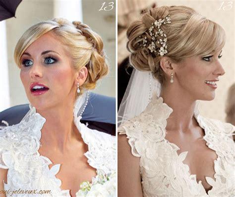 chignon de mari 233 e et perles id 233 es coiffure coiffures chignons et mariage
