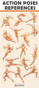 Action Poses Reference Sheet by Seiorai.deviantart.com on ...