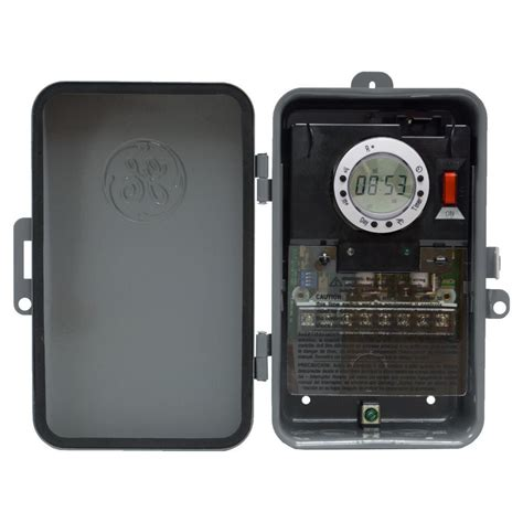 ge 7 day digital outdoor box timer and on per day