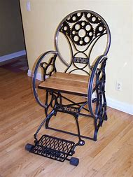 Antique Sewing Machine Chair