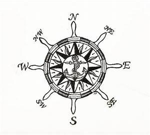 Ship Wheel Compass Drawing by Shane Silva