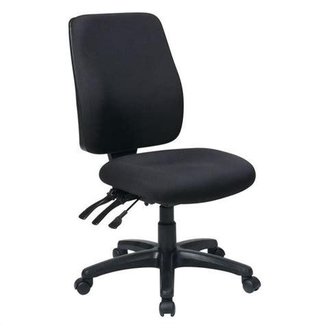 high back dual function ergonomic office chair in coal
