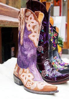 hand painted snakeskin leather  post cowboy boots