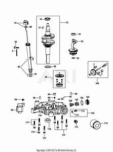 Mtd 4p90jub Engine Parts Diagram For 4p90jub Crankshaft  U0026 Crankcase Cover
