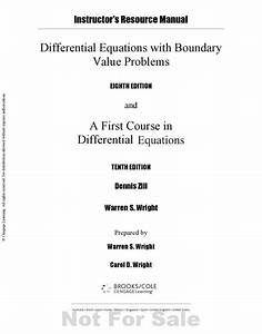 Differential Equations And Boundary Value Problems 8
