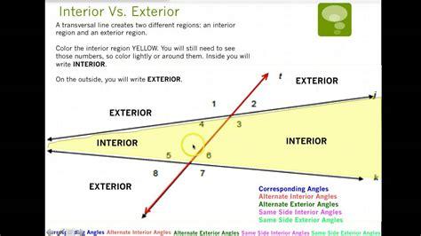 Identifying Transversal Lines & Angle Pairs