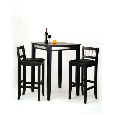 high bar stools manhattan black pub table and two stools home styles