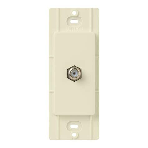 Kitchen Wall Organization Ideas - lutron claro coaxial cable jack almond ca cj al the home depot