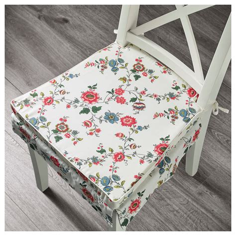 elsebet chair pad patterned 43x42x4 cm ikea