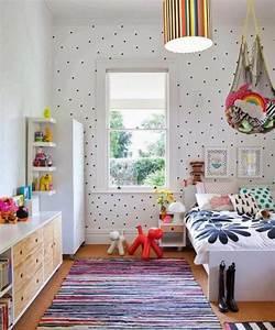 Papier Peint Chambre À Coucher : 80 astuces pour bien marier les couleurs dans une chambre d enfant ~ Nature-et-papiers.com Idées de Décoration
