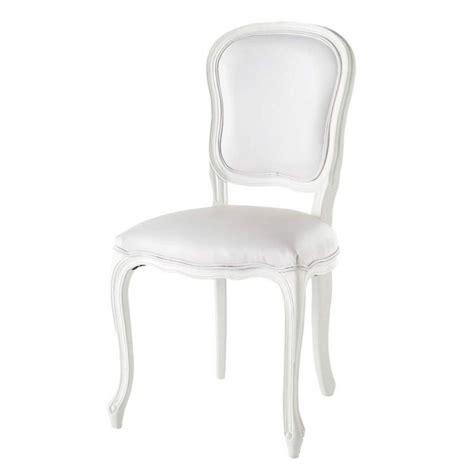 chaise blanche versailles maisons du monde