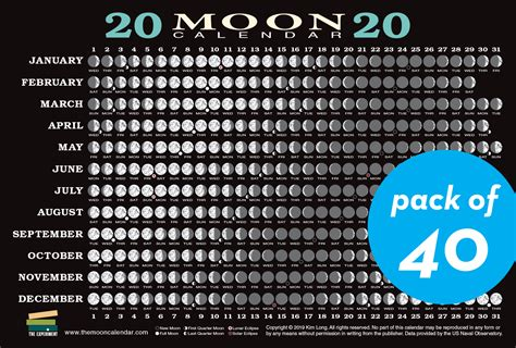 moon calendar card  pack workman publishing
