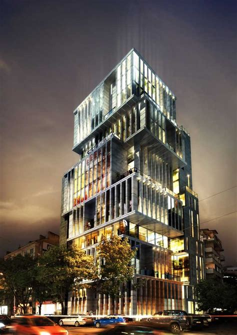 red apple residential building bulgaria  architect
