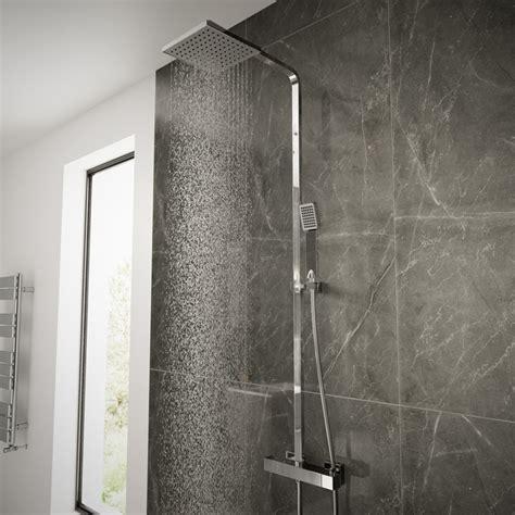 How To Remove Shower Riser Rail - vira square riser slide shower rail kit with dual valve