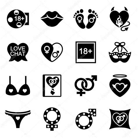 Vector Sex Icon Set — Stock Vector © Annexs 123799362