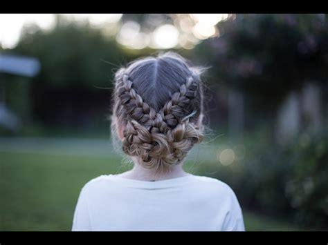 flip  braid athletic hairstyle cute girls