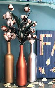 seasonal style fall home tour blue i style creating With what kind of paint to use on kitchen cabinets for metallic votive candle holders