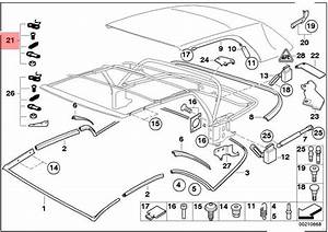 Genuine Bmw 3 Series E46 Convertible Roof Top Repair Kit Oem 54317070381