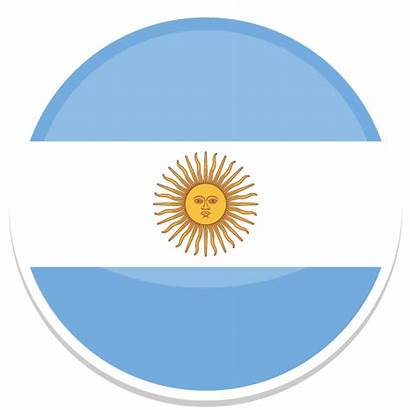 Argentina Icon Flags Round Cup Bandera Icons